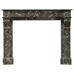 Antique French Fireplace Mantel in Sainte Anne Marble