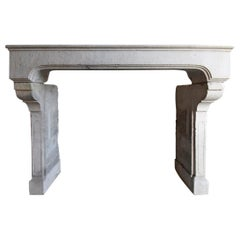 Antique French Fireplace Mantel Piece, 19th Century