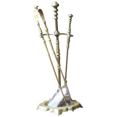 Antique French Fireplace Tools or Fire Tools, 19th Century