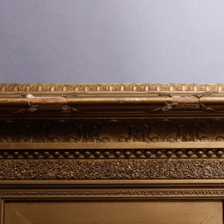 Antique French First Finish Giltwood Art Frame with Ginkgo Leaves, 19th Century For Sale 4