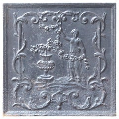Louis XV Fireplace Tools and Chimney Pots