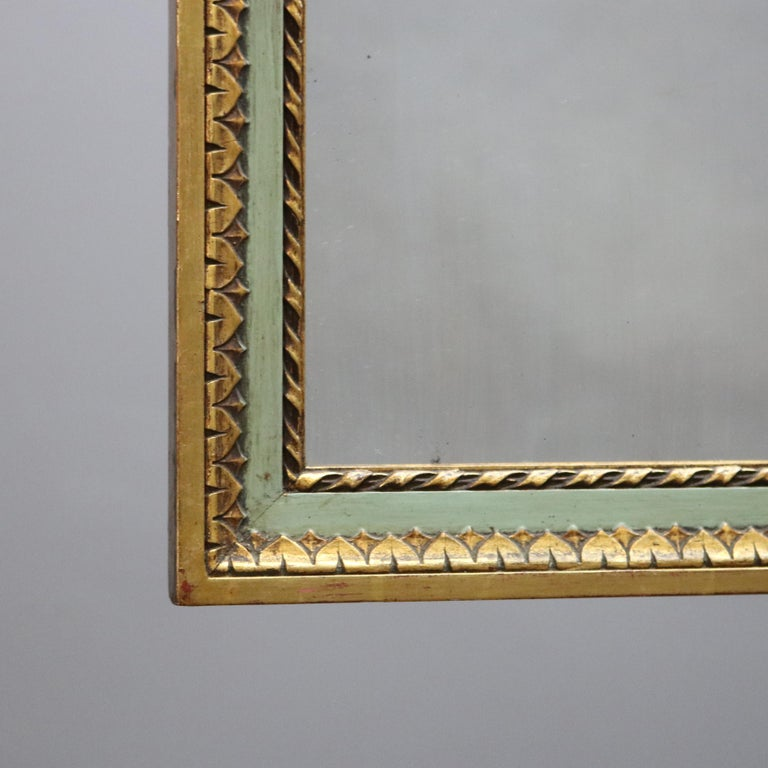 Antique French Floral Swag Gilt Wood Over Mantel Wall Mirror, 19th Century For Sale 2