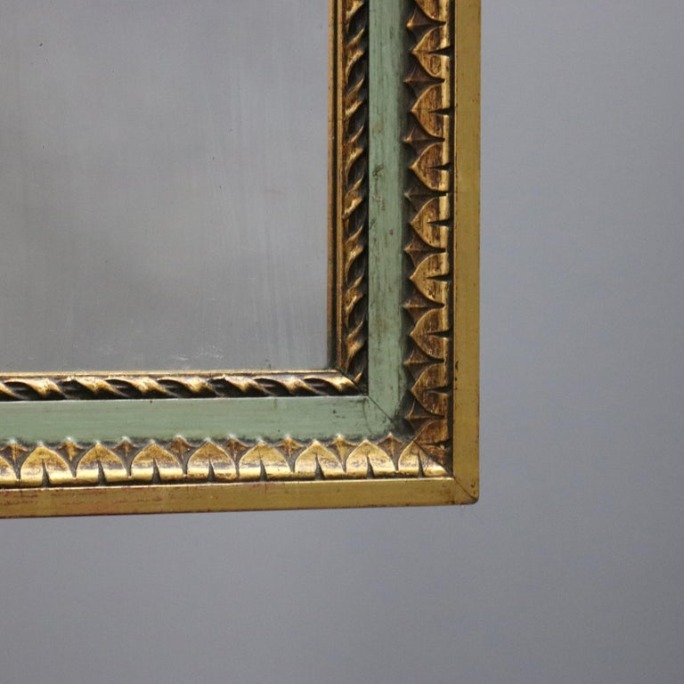 Antique French Floral Swag Gilt Wood Over Mantel Wall Mirror, 19th Century For Sale 3