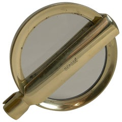 Antique French Folding Brass Magnifying Glass, circa 1900