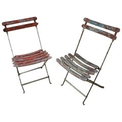 Antique French Folding Chairs