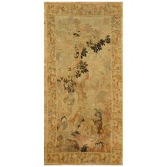 Antique French Forest Scene Tapestry, circa 1880, 4'6 x 10'