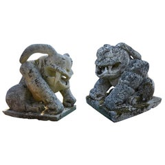 Antique French Frogs, 19th Century