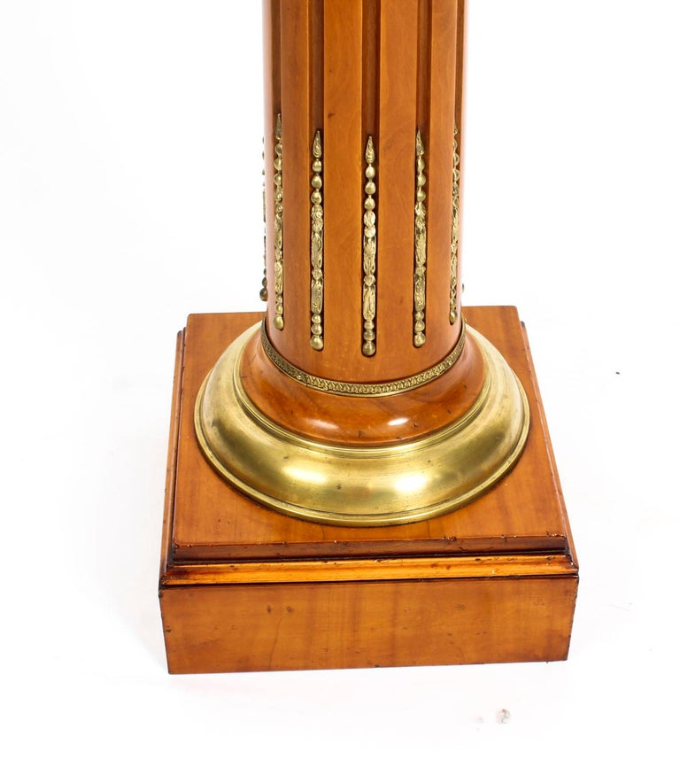 Antique French Fruitwood Ormolu Mounted Pedestal, 19th Century For Sale 3