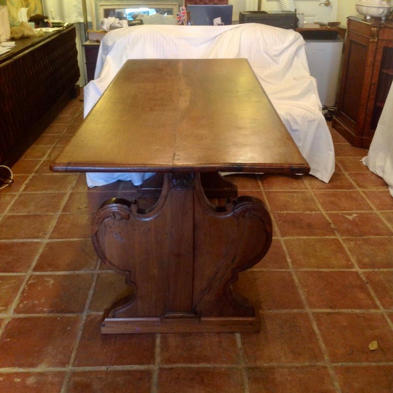 Antique French Fruitwood Refectory Dining / Kitchen Table 7