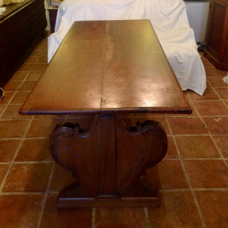 Antique French Fruitwood Refectory Dining / Kitchen Table 8