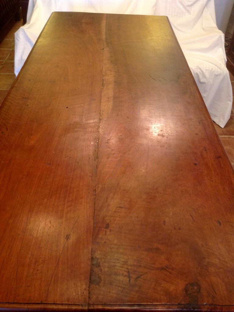 Antique French Fruitwood Refectory Dining / Kitchen Table 9