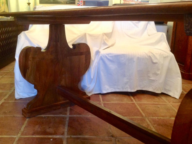 Antique French Fruitwood Refectory Dining / Kitchen Table In Good Condition In West Palm Beach, FL
