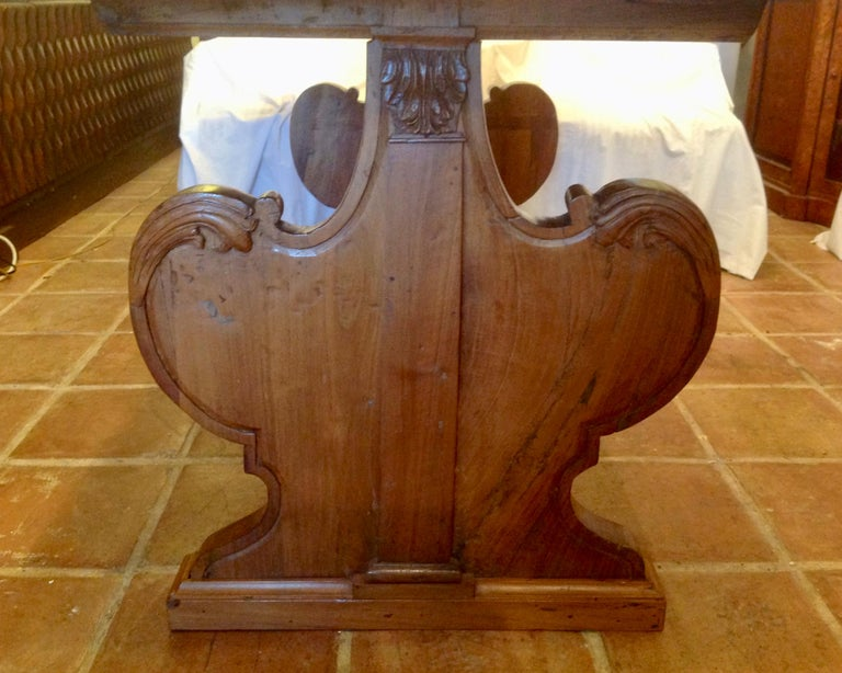 Antique French Fruitwood Refectory Dining / Kitchen Table 1
