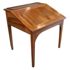 Antique French Fruitwood Slant Front Desk, Fine Patina
