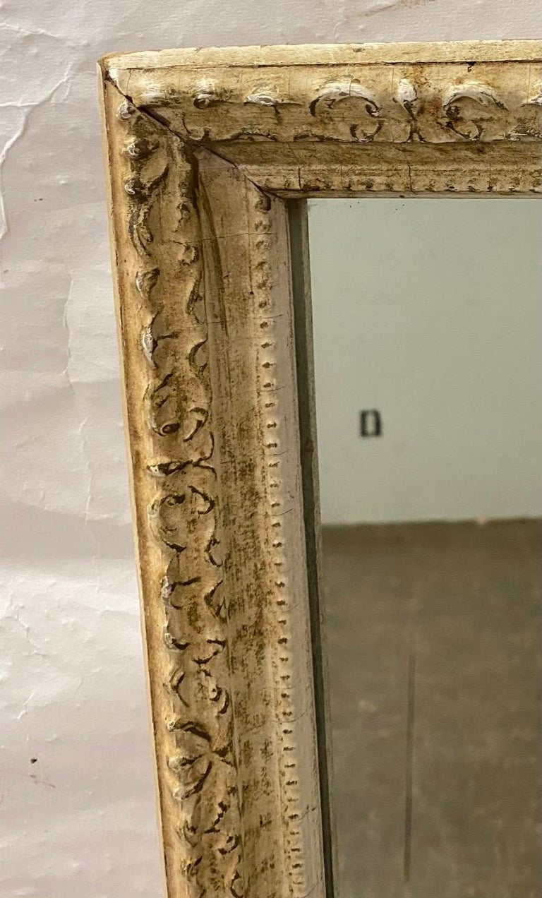 Antique French Full Length Pier Mirror In Good Condition For Sale In Great Barrington, MA