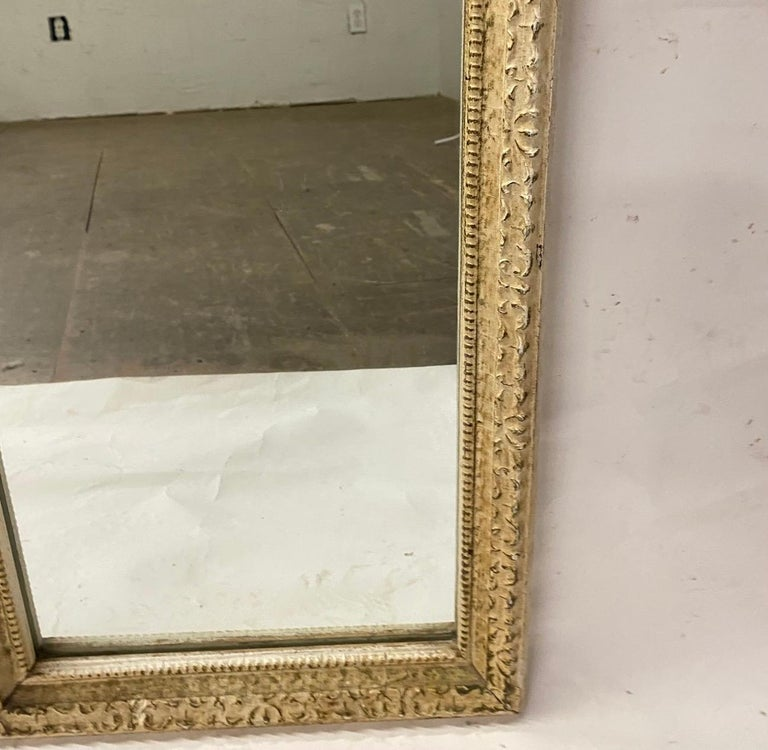 20th Century Antique French Full Length Pier Mirror For Sale