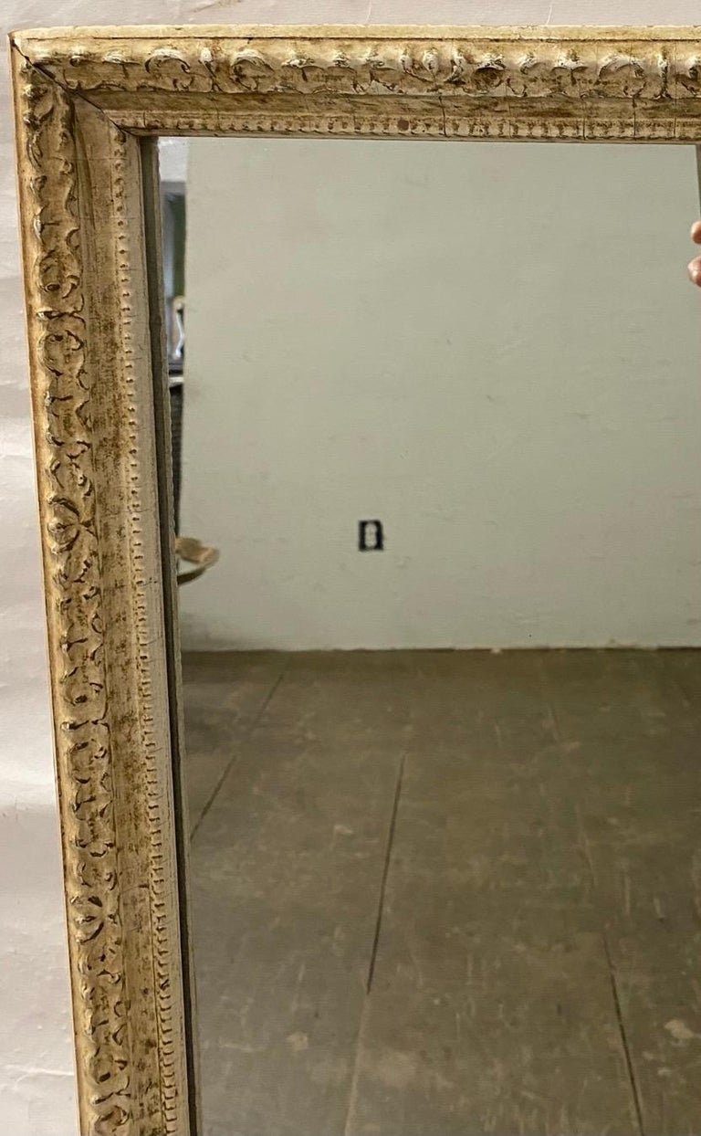 Antique French Full Length Pier Mirror For Sale 2