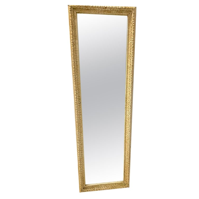 Antique French Full Length Pier Mirror For Sale