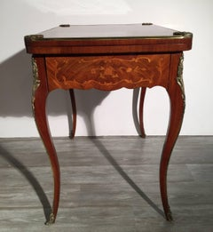 Antique French Game Table With Polished Mounts
