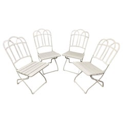 Antique French Garden Folding Dining Chairs