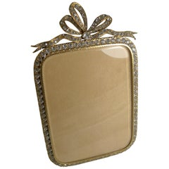 Antique French Gilded Bronze and Paste Stone Photograph Frame, circa 1890