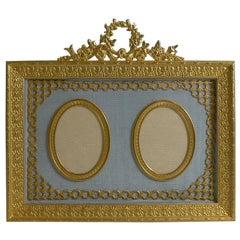 Antique French Gilded Bronze Photograph Frame, circa 1900