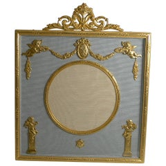 Antique French Gilded Bronze Photograph / Picture Frame, circa 1900, Cherubs
