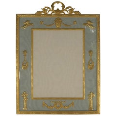 Antique French Gilded Bronze Photograph / Picture Frame circa 1900, Cherubs