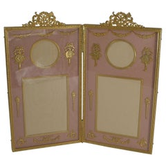 Antique French Gilded Bronze Photograph / Picture Frame circa 1900, Cherubs