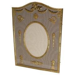 Antique French Gilded Bronze Picture Frame, Cherub, c.1900