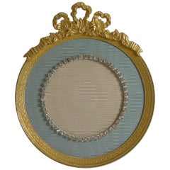 Antique French Gilded Bronze Picture Frame, Paste Stones, circa 1900