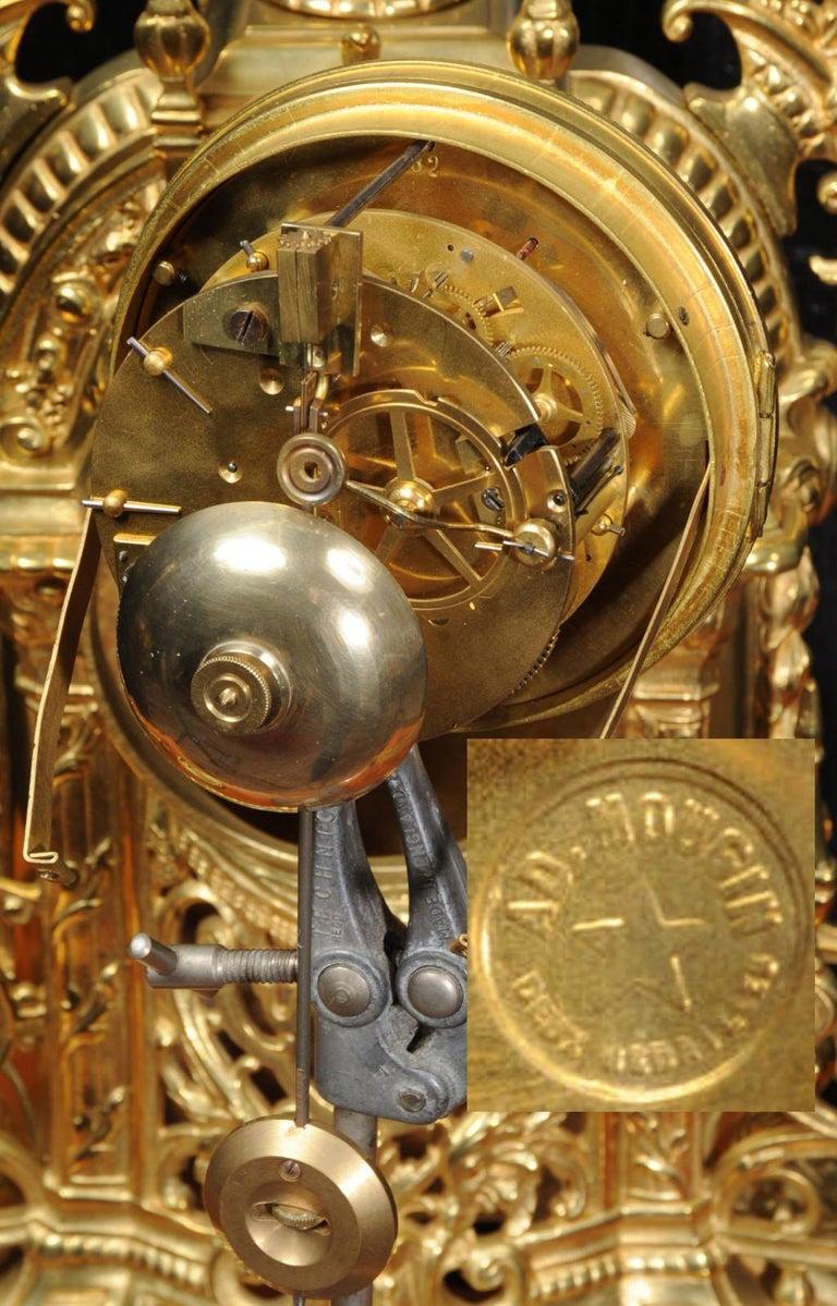 Antique French Gilt Bronze Baroque Clock For Sale 6