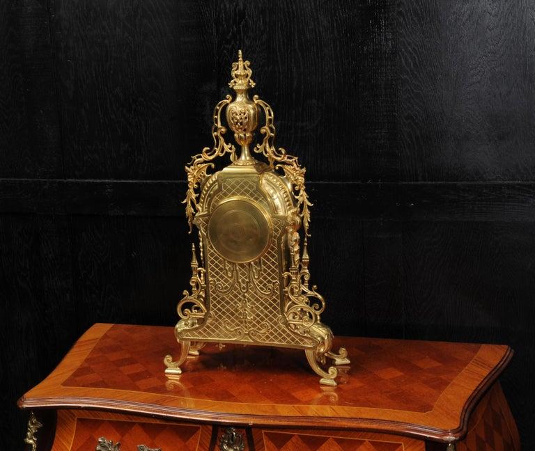 Antique French Gilt Bronze Baroque Clock For Sale 4