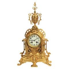 Antique French Gilt Bronze Boudoir Clock