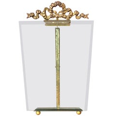 Antique French Gilt Bronze Brass Beveled Glass Photo Frame Picture Holder Stand