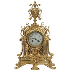 Antique French Gilt Bronze Clock by Japy Freres