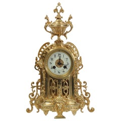 Antique French Gilt Bronze Clock by Samuel Marti