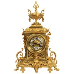Antique French Gilt Bronze Louis XVI Clock