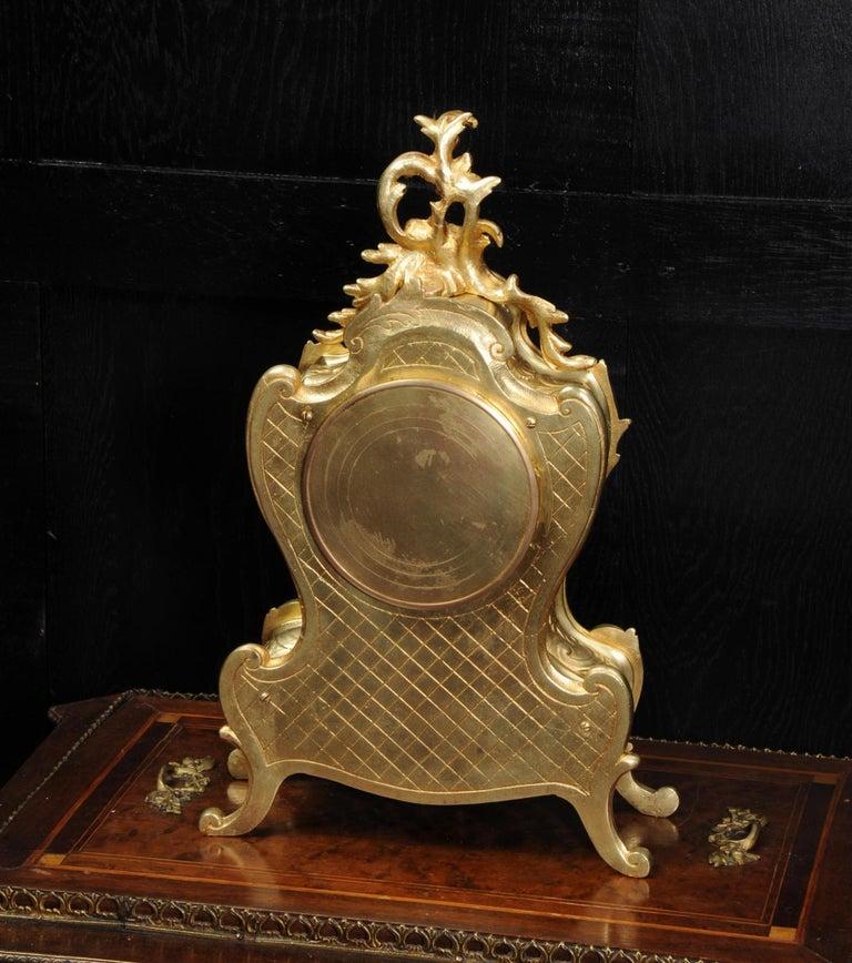 Antique French Gilt Bronze Rococo Clock 9