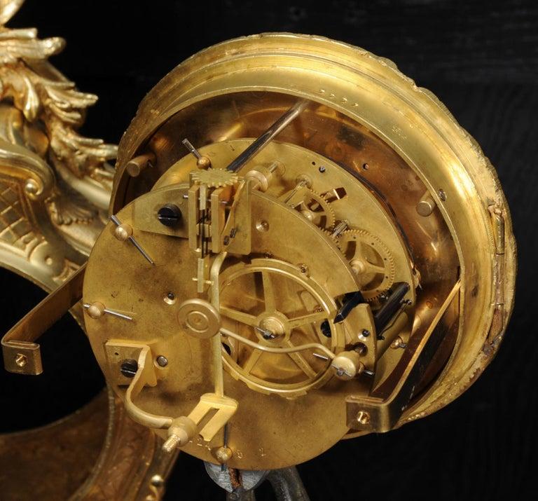 Antique French Gilt Bronze Rococo Clock 10