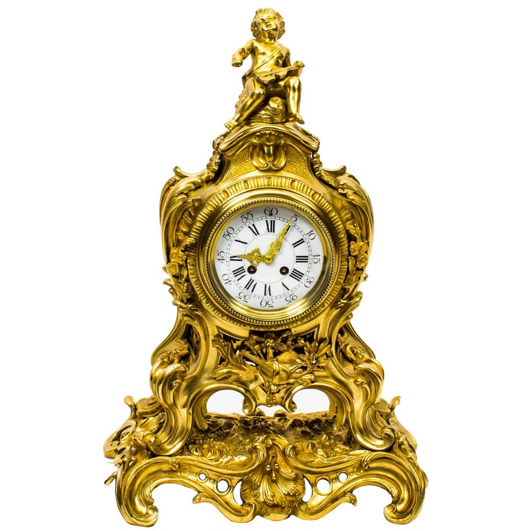Antique French Conical or Mystery Clock For Sale at 1stdibs