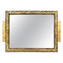 Antique French Giltwood Mirror, Art Deco Style, circa 1930