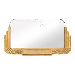 Antique French Giltwood Mirror, Art Deco Style, circa 1940