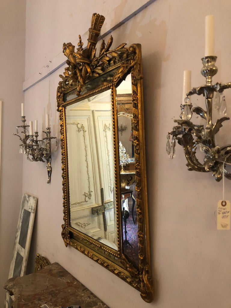 Antique French Giltwood Mirror Circa 1890 1910 At 1stdibs