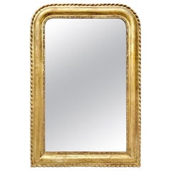 Antique French Giltwood Mirror Louis-Philippe Style, circa 1890