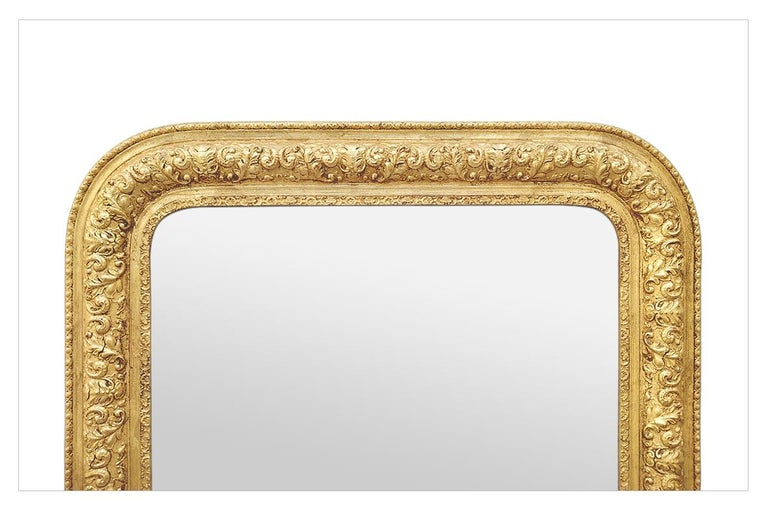 Louis Philippe Antique French Giltwood Mirror Louis-Philippe Style, circa 1900 For Sale