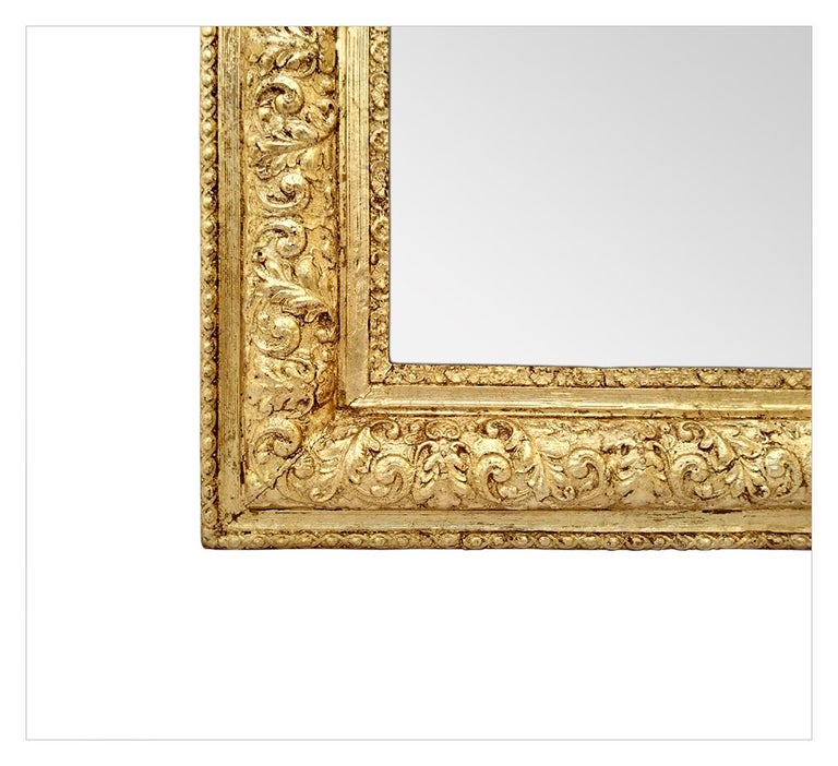 Early 20th Century Antique French Giltwood Mirror Louis-Philippe Style, circa 1900 For Sale