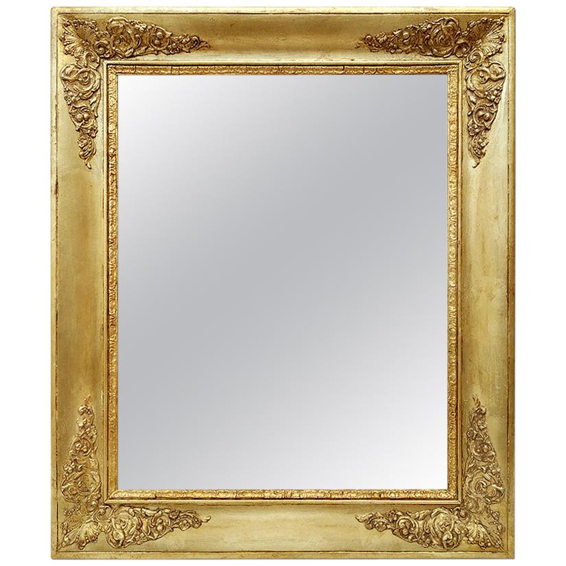 Antique French Giltwood Mirror, Restoration Period, circa 1820