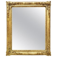 Antique French Giltwood Mirror, Romantic Style, circa 1830