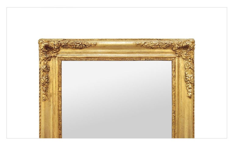 Antique French Giltwood Mirror, Romantic Style, circa 1840 In Good Condition For Sale In Paris, FR
